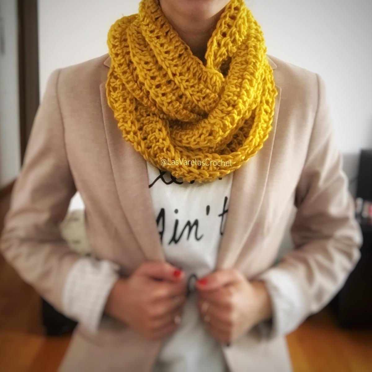 Bufanda Infinita Circular Tejida A Crochet (frida) - $ 250,00 en ...