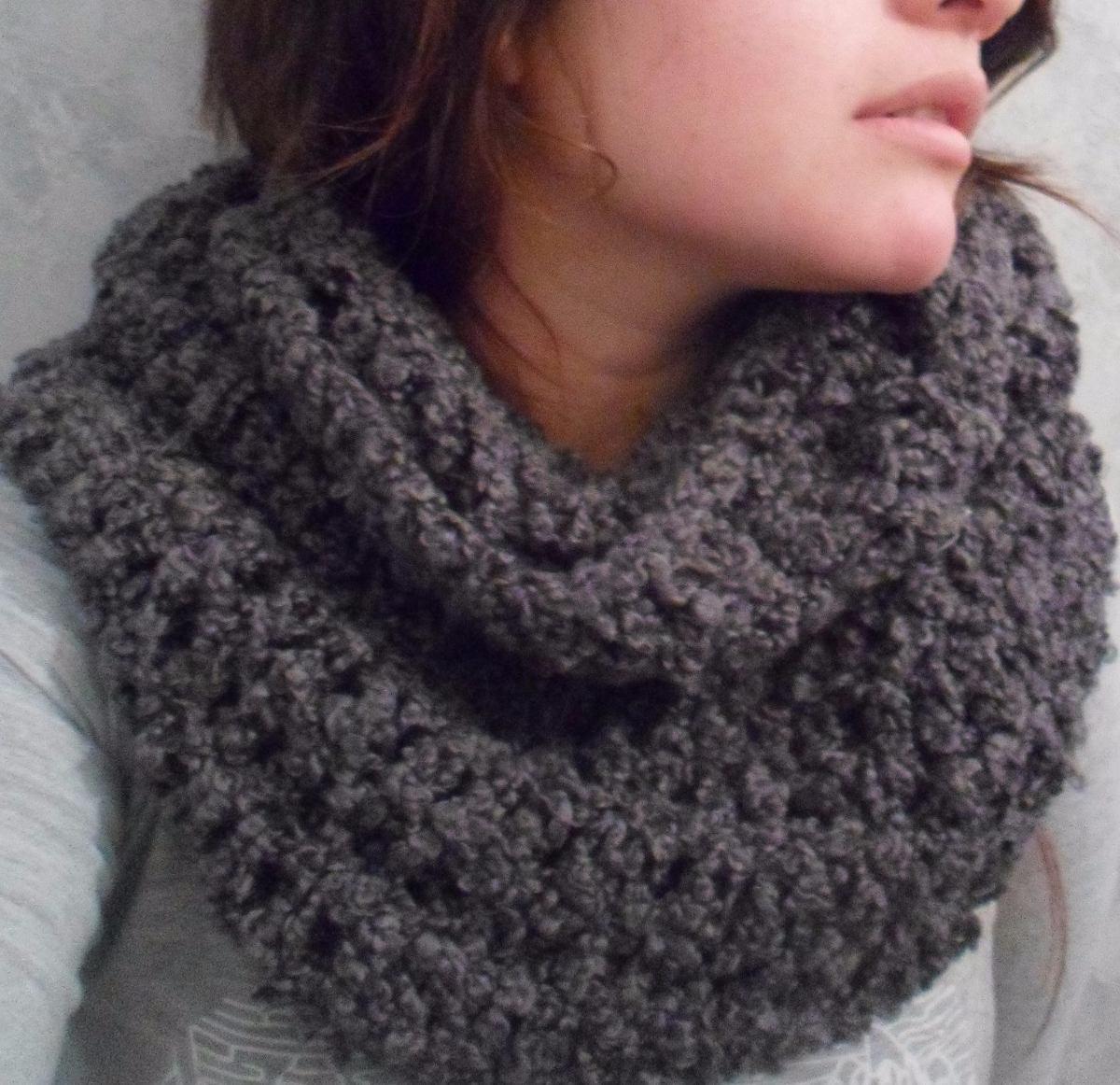 nuevos productos calientes estilo de moda precio barato Bufanda Infinita Circular Tejido Crochet Y Miel - $ 300,00 en ...