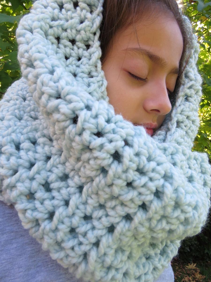 mejor mayorista dd3e7 2eb2d Bufanda Infinita Mujer Artesanal Lana Suave Crochet No Polar