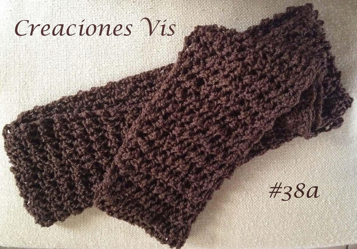 Bufanda Infinita Tubular Crochet Tejida A Mano Varios Colore ...
