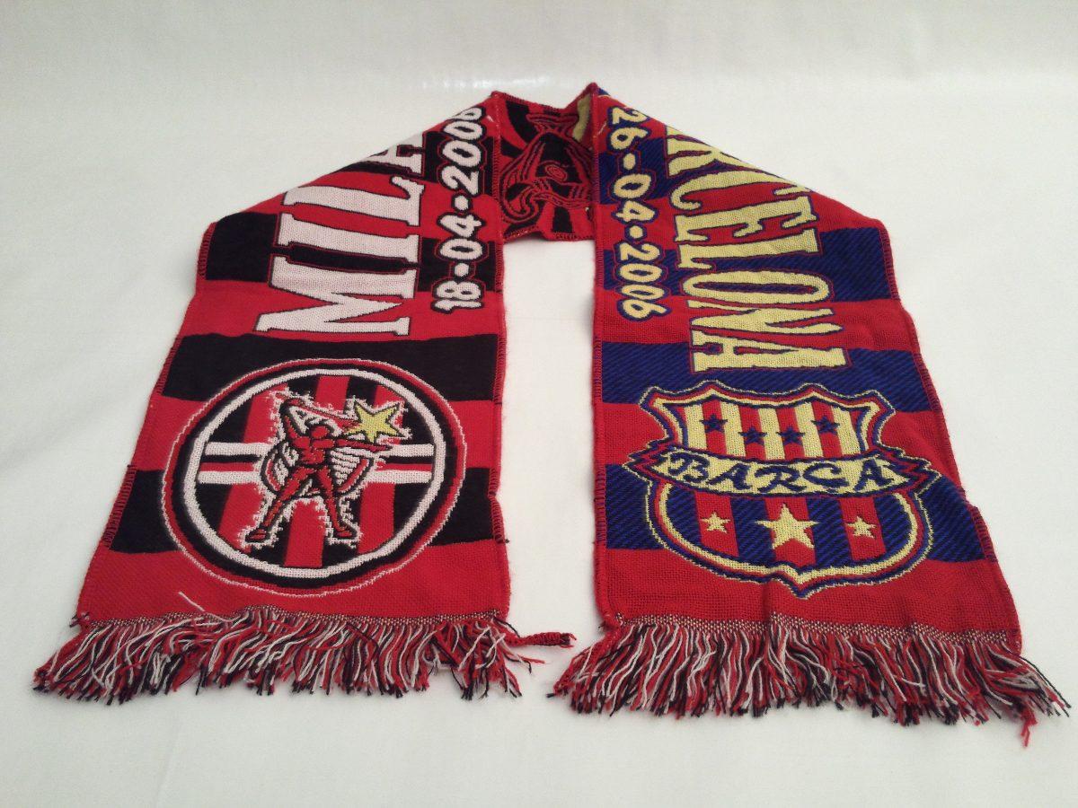 Bufanda Milan Vs Barcelona !!! - S  40 23d21c97012