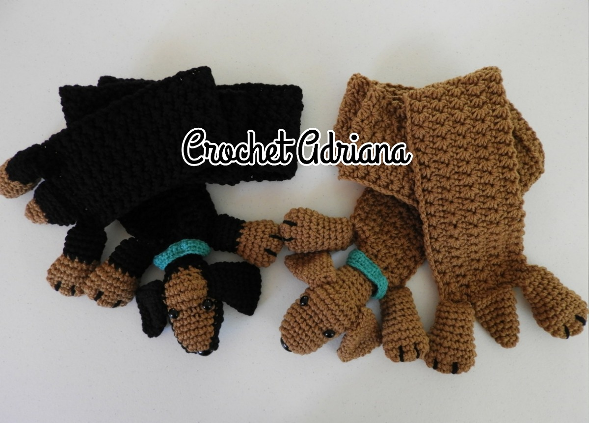 Bufanda Perro Salchicha Tejida Crochet - $ 750.00 en Mercado Libre