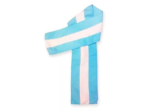 bufanda polar bastonada argentina - jura a la bandera