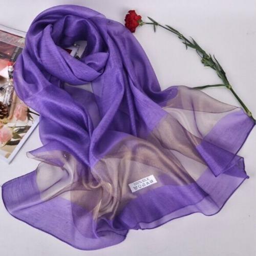 bufanda seda para dama toalla chal playa 200 cm blanco