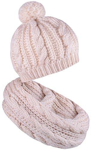 Bufanda Y Sombrero Conjunto Gorros Pompón Para Mujer Gorros ... 3222b001dee