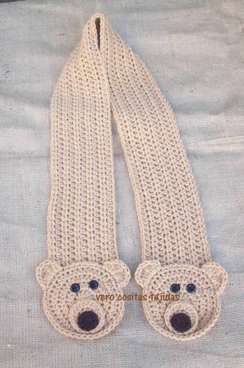 Bufandas Animalitos Niños Al Crochet - Hermosas - $ 224,31 en ...