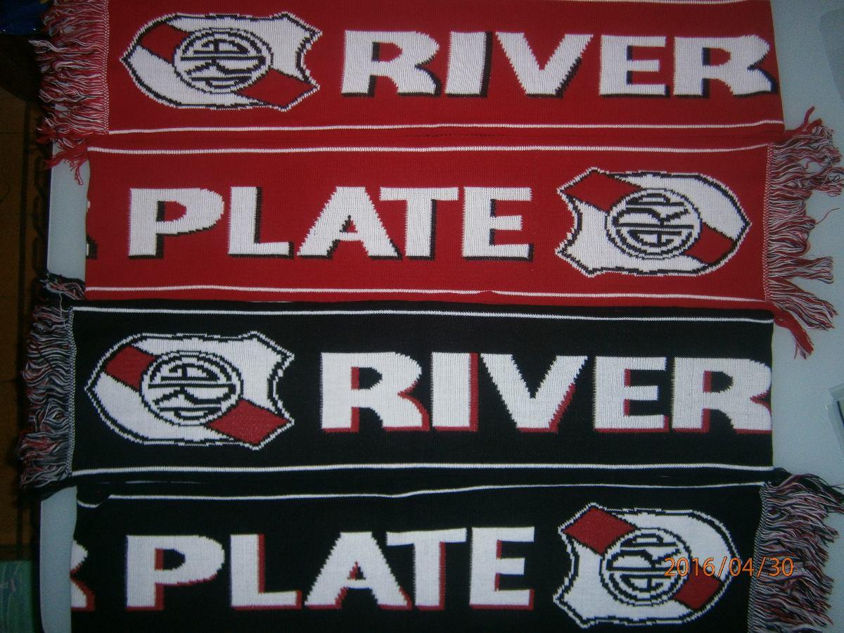 bufandas de futbol river plate boca juniors 180 x 20 lana