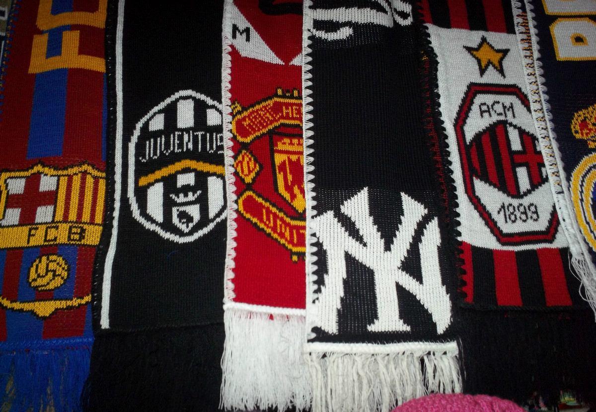 bufandas de los equipos de futbol internacionales