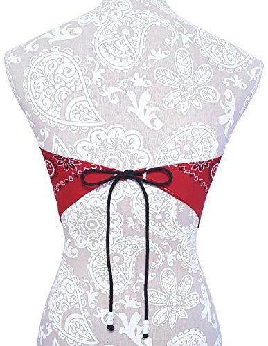 bufandas de moda,camiseta bandana roja cultivo top - rop..