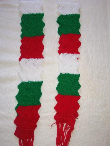 bufandas de navidad para niños y niñas