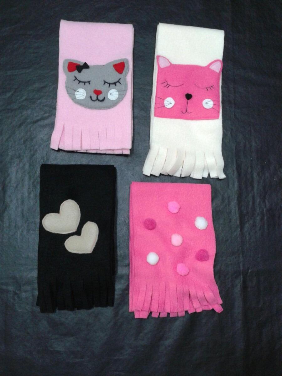 bufandas de polar infantiles artesanales