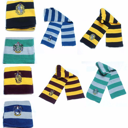 bufandas harry potter gryffindor slytherin hogwarts