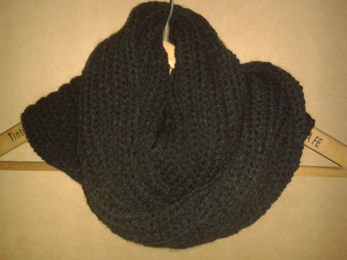 bufandas infinitas de dos vuelta tejidas a dos agujas
