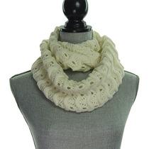 Bufanda Crochet Punto Grueso Chevron Infinity Scarf Entre M