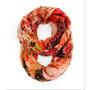 Bufanda Impresión Floral De Primavera Ligera Infinity Loop