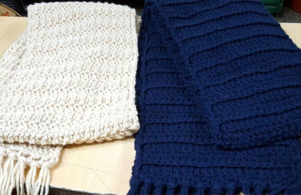 Bufandas A Crochet Para Hombres