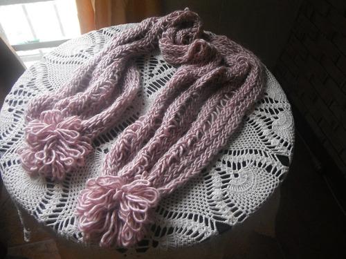 bufandas tejida  para jovenes y adultos