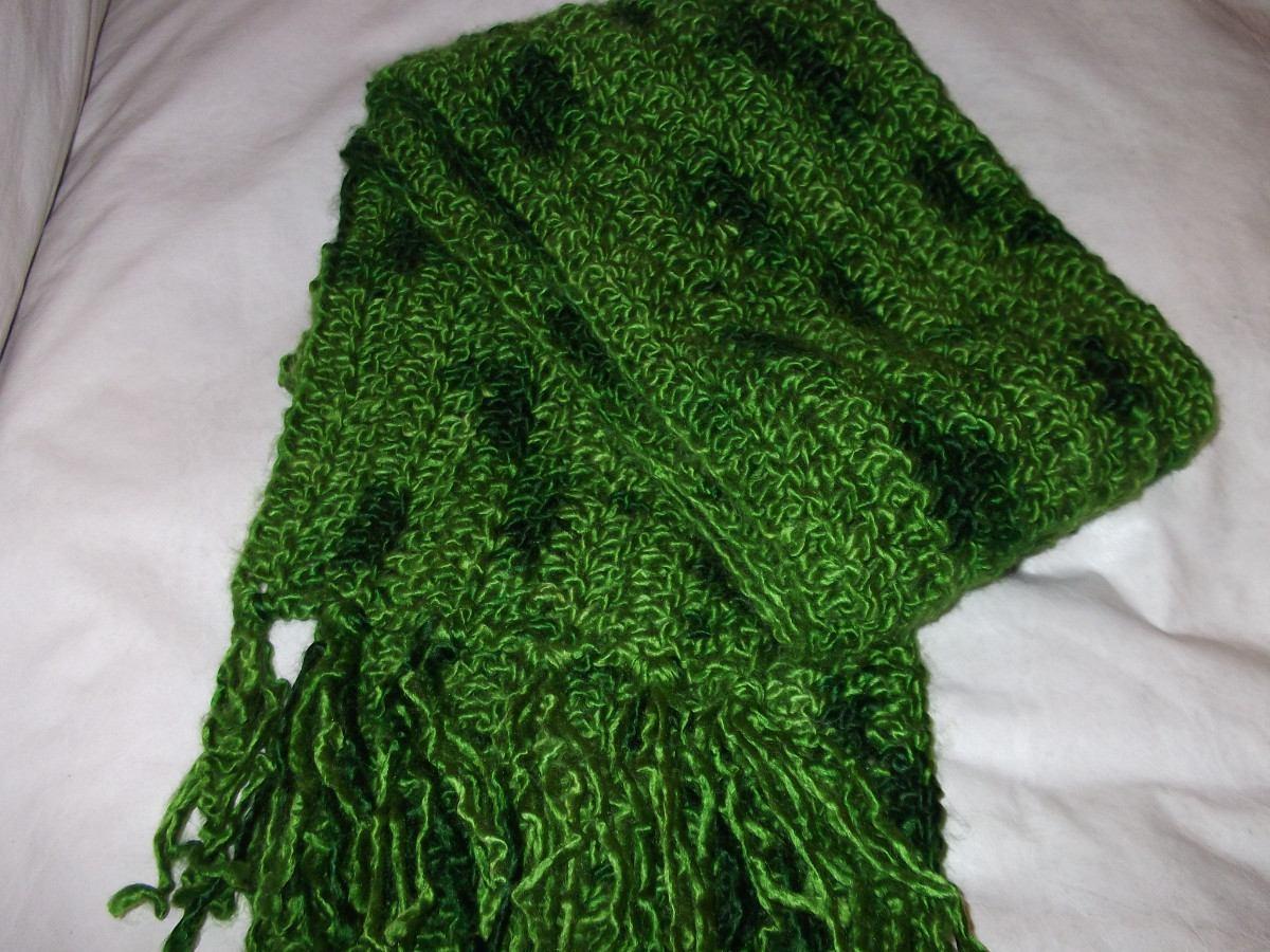 Bufandas Tejidas A Crochet - $ 400,00 en Mercado Libre