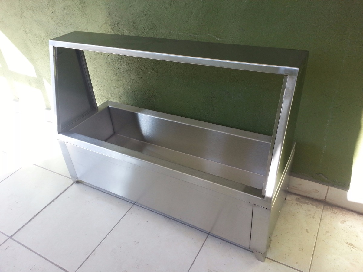 Bufetera mesa caliente ba o maria de acero inoxidable for Jaboneras para bano de acero inoxidable