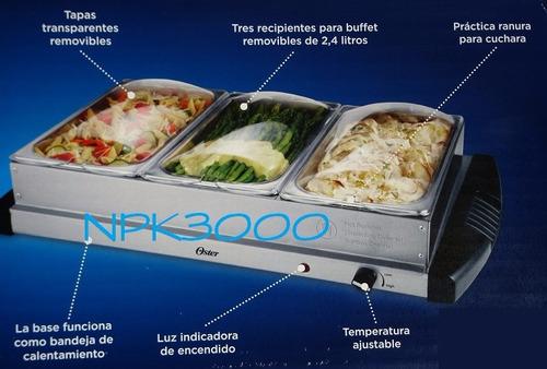bufetera triple electrica oster 2.4 l por charola 120v 300w