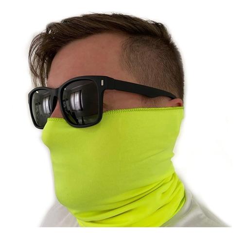 buff bandana pesca ciclismo proteção uv50 cor amarelo neon
