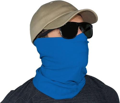 buff bandana pesca ciclismo proteção uv50 cor azul royal