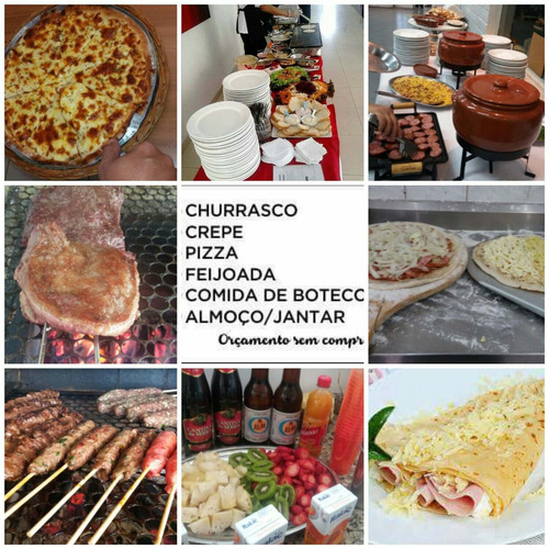 buffet a domicílio, churrasco, crepe, feijoada, pizza