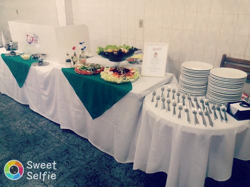 buffet com salão incluso, buffet a domicílio e barraquinhas