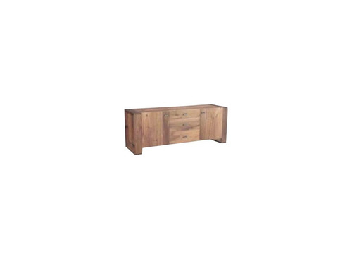 buffet cómoda de madera nogal