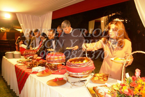 buffet criollo catering, cumple, bautizo, evento a domicilio