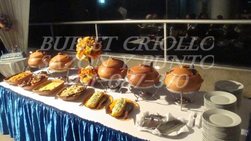 buffet criollo, gourmet y bocaditos desde 17.90