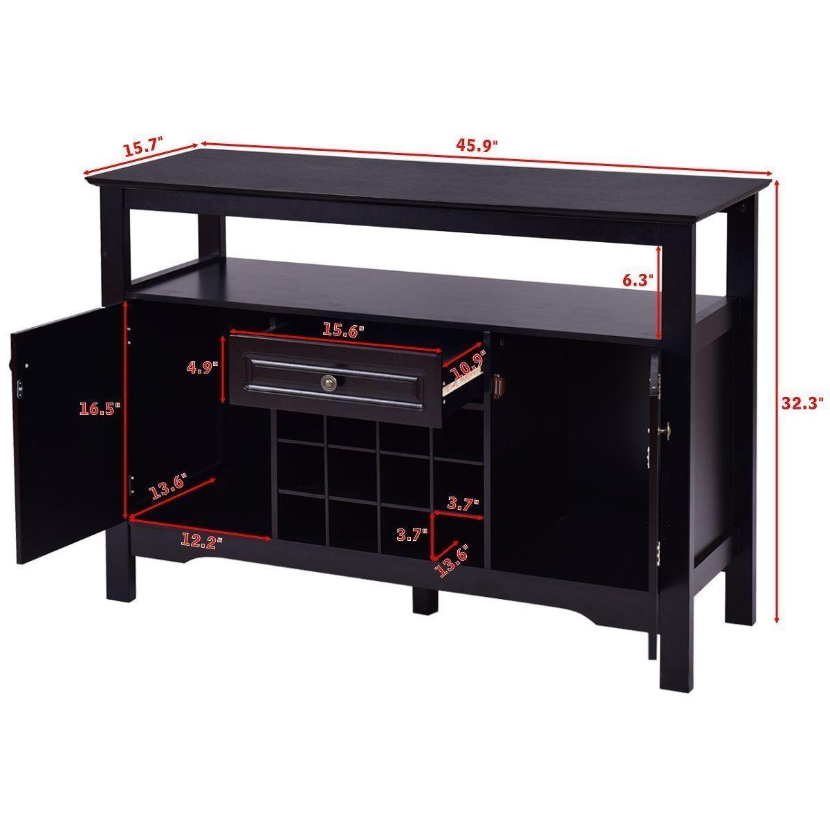 Moderno Mueble Bufet Negro Composición - Muebles Para Ideas de ...