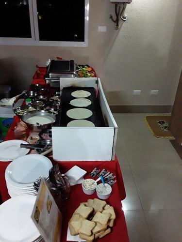buffet de crepe  e pizza a domicilio.