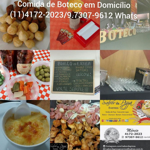 buffet domicilio pizza,crepe,churrasco,boteco á partir 19,90