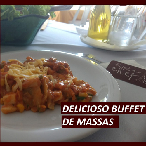 buffet em domicílio - crepes, massas e strogonofe