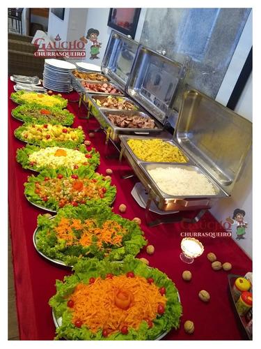 buffet gaúcho churrasqueiro churrasco em domicílio