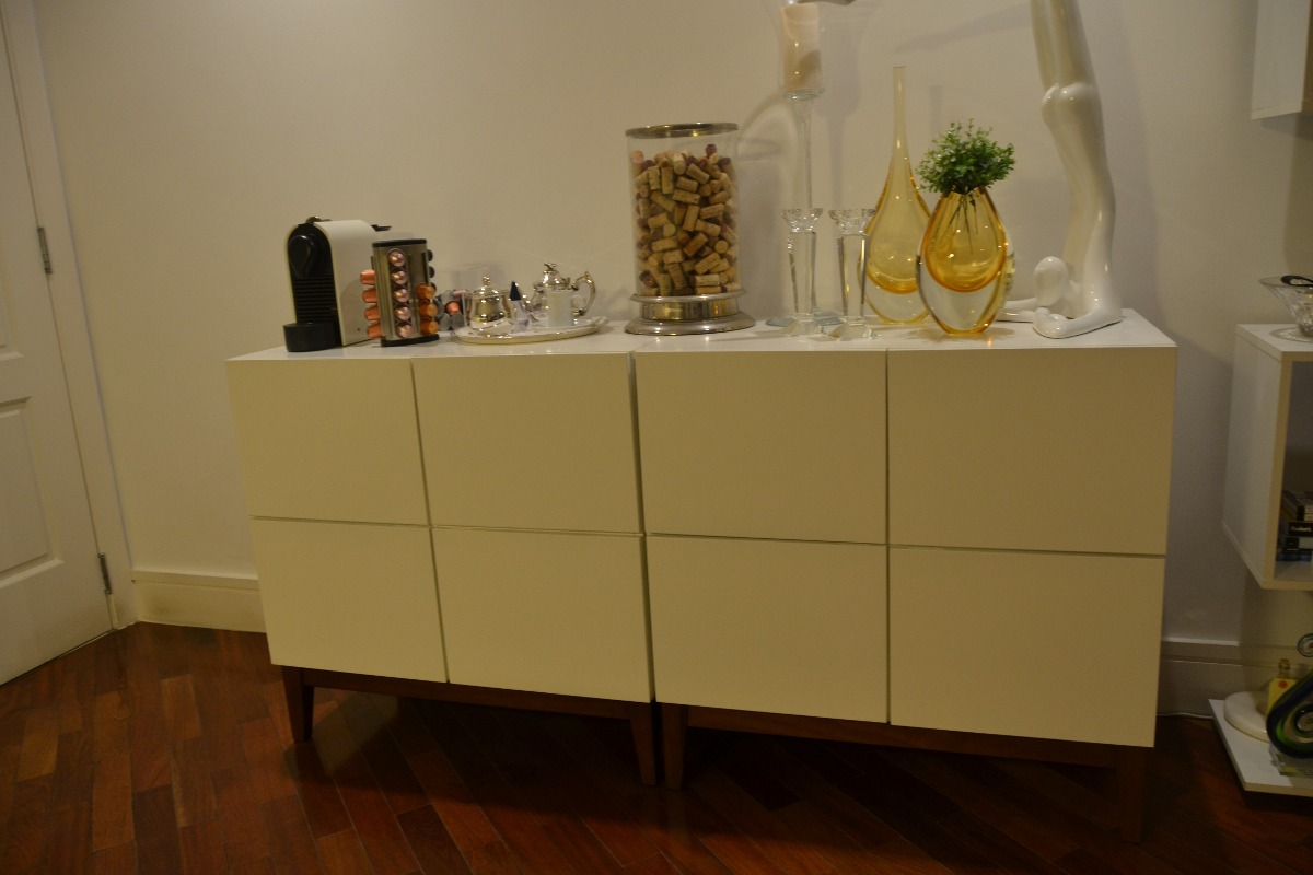buffet klein branco com base em embuia r 375 00 em. Black Bedroom Furniture Sets. Home Design Ideas