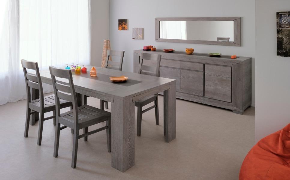 Buffet para comedor sala modelo titan color gris en madera for Proposito del comedor buffet
