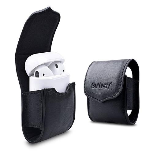 buffway airpods funda de cuero de cuero bolsa + envio gratis