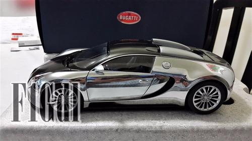 bugatti eb veyron pur sang autoart escala 1/18 ** raro**