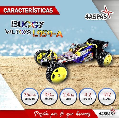 buggy auto a radio control remoto rc electrico con bateria