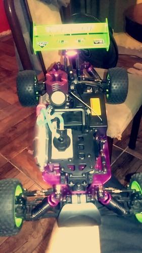 buggy rc nitro 1/10 + kit + combustible!