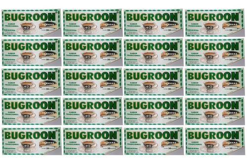 bugroon chá misto emagrecedor 20 caixas c/ 30 saches atacado