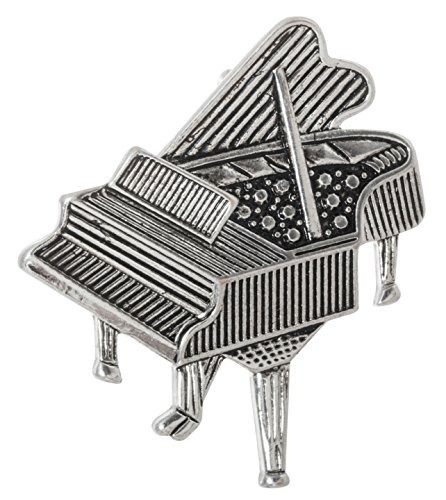 búho artesanal  piano de cola arete colgantes de metal tono