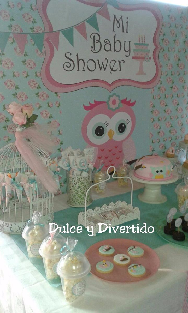 Tematica De Baby Shower Nina.Buhos Baby Shower Mesas Tematicas Candy Bar