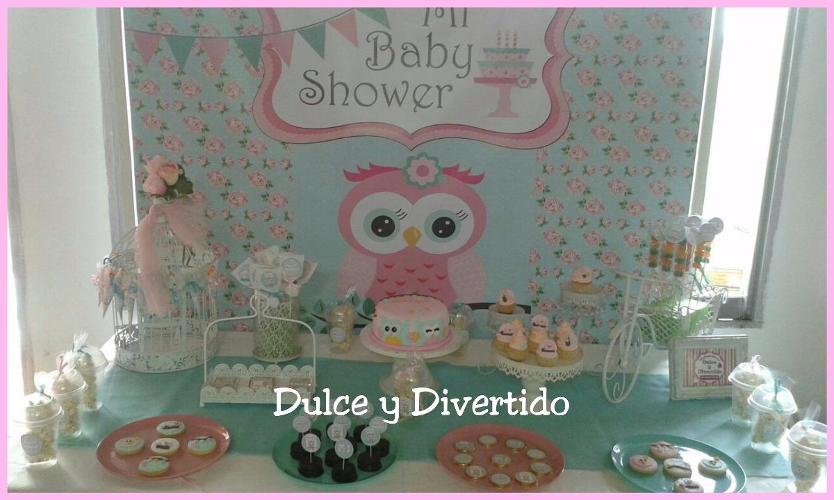 Buhos Baby Shower Mesas Tematicas Candy Bar 210000 En