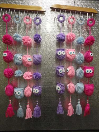 buhos / corazones: tejidos al crochet (adornos - souvenir )