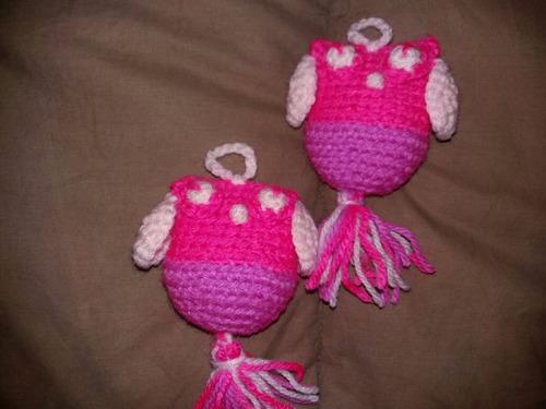 buhos lechuzas tejidos al crochet amigurumis souvenirs