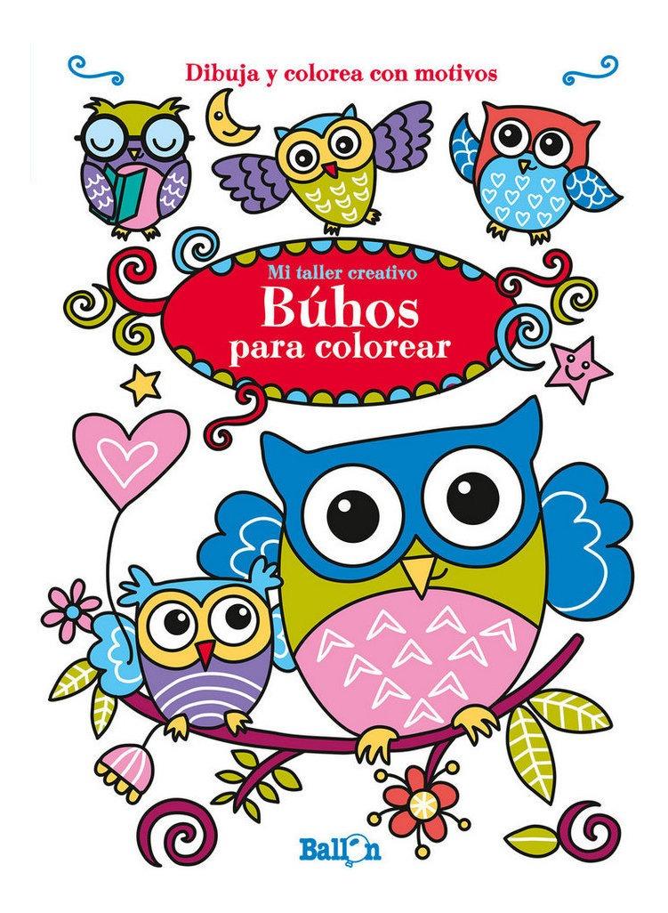 Buhos Para Colorear Mi Taller Creativo Aavv Book