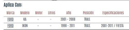 buje de eje trasero ford ikon 1998 - 2011 vzl